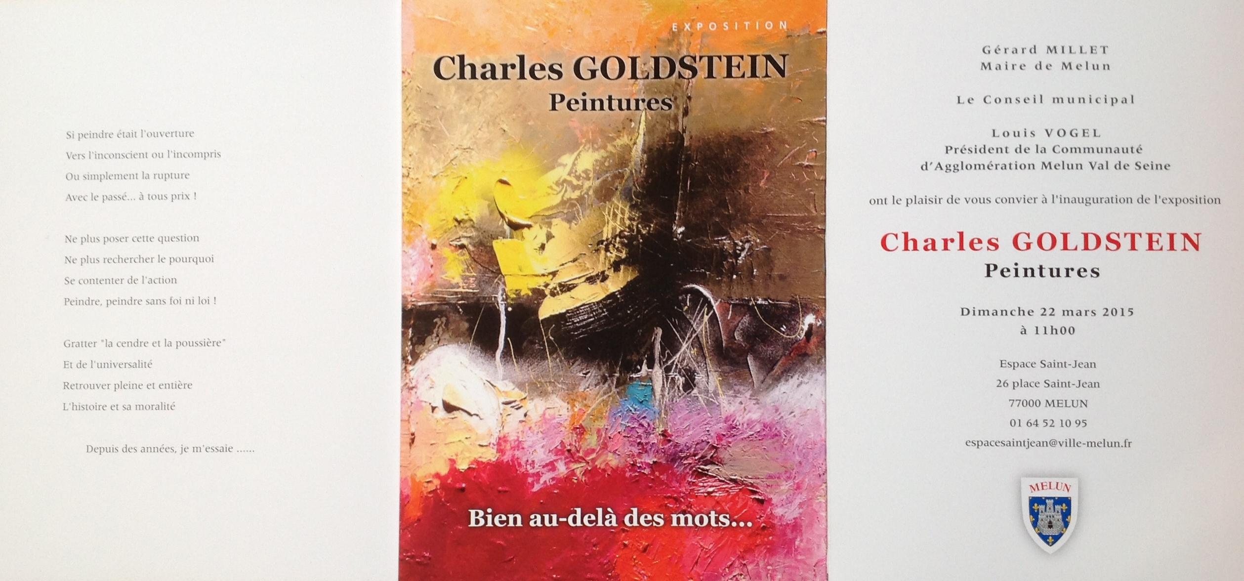 Fabuleux flyer-expo-peinture-mars2015 | Charles GOLDSTEIN GK64