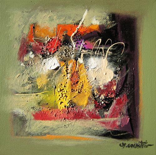 Tableau abstrait - Eclats de mémoire