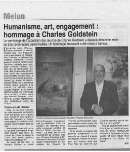 Article presse Charles Goldstein 2009