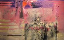 Lait noir de l'aube nous te buvons les nuits (Paul Celan)(146×96)