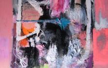 Voix venues du chemin d'orties (Paul Celan) (116×81)